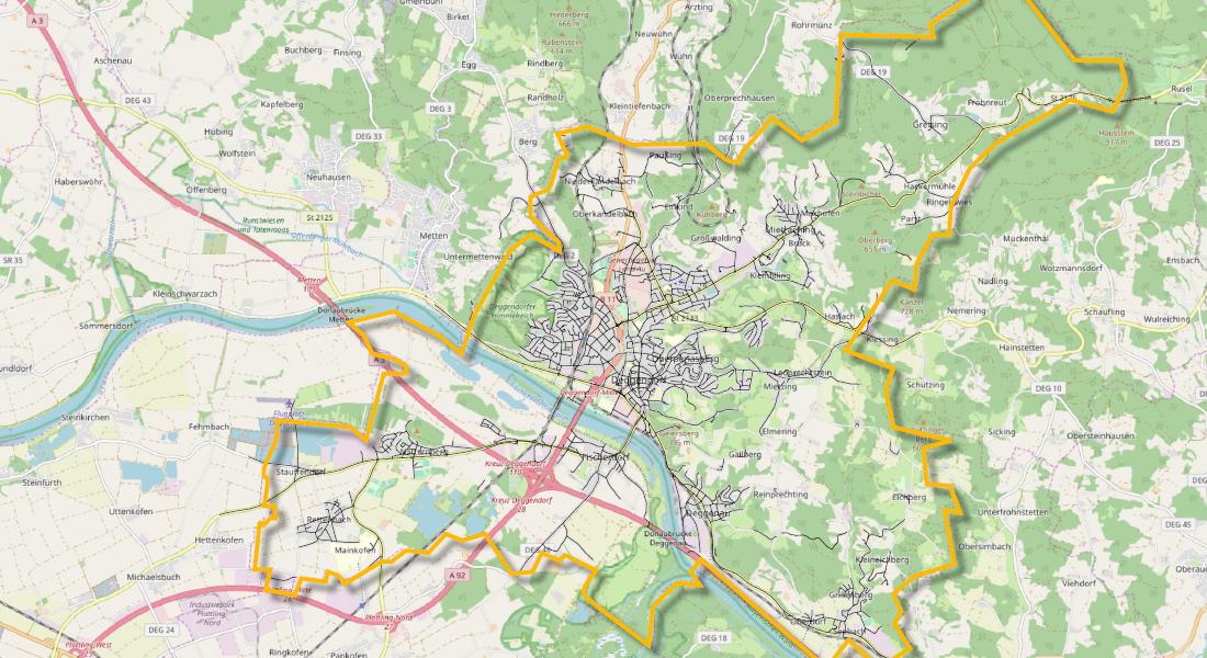 Stadtgrenze Deggendorf
